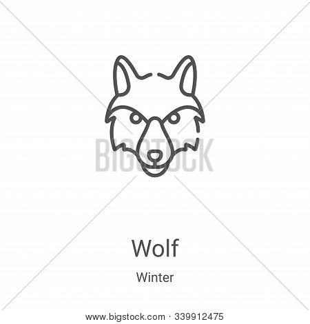 wolf icon isolated on white background from winter collection. wolf icon trendy and modern wolf symb