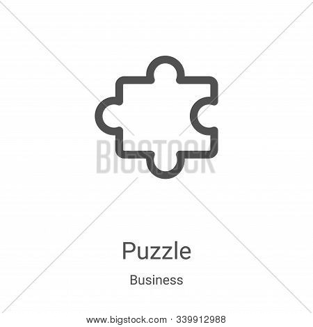 puzzle icon isolated on white background from business collection. puzzle icon trendy and modern puz