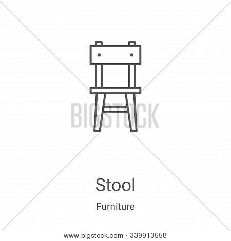 stool icon isolated on white background from furniture collection. stool icon trendy and modern stoo