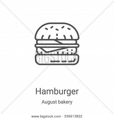 hamburger icon isolated on white background from august bakery collection. hamburger icon trendy and
