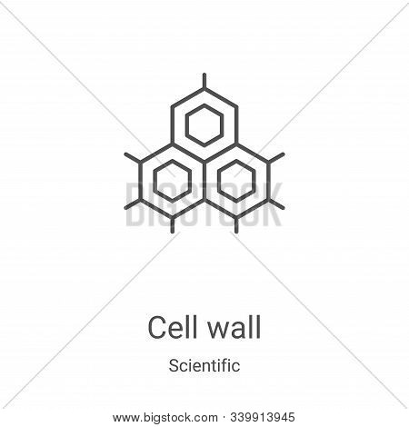 cell wall icon isolated on white background from scientific collection. cell wall icon trendy and mo