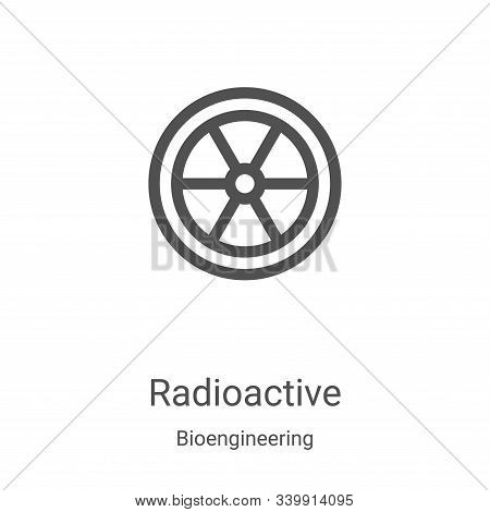 radioactive icon isolated on white background from bioengineering collection. radioactive icon trend