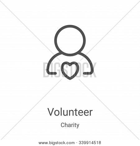 volunteer icon isolated on white background from charity collection. volunteer icon trendy and moder