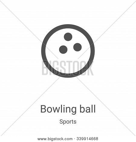 bowling ball icon isolated on white background from sports collection. bowling ball icon trendy and