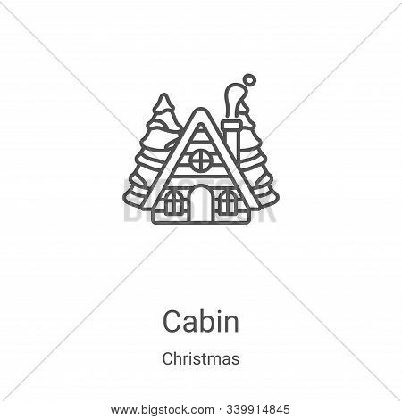 cabin icon isolated on white background from christmas collection. cabin icon trendy and modern cabi