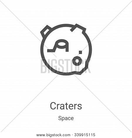 craters icon isolated on white background from space collection. craters icon trendy and modern crat