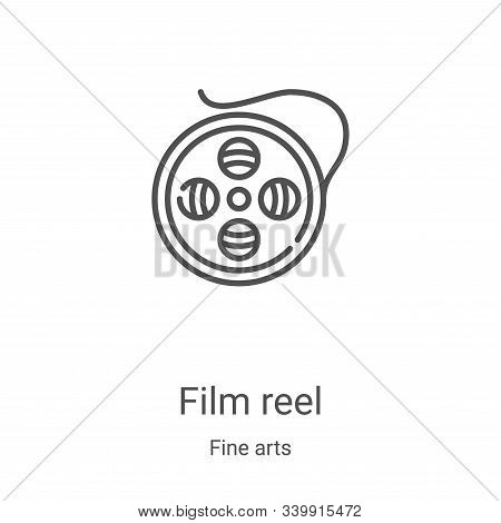 film reel icon isolated on white background from fine arts collection. film reel icon trendy and mod