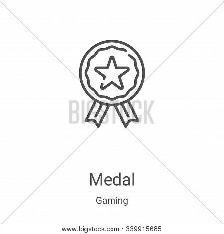 medal icon isolated on white background from gaming collection. medal icon trendy and modern medal s