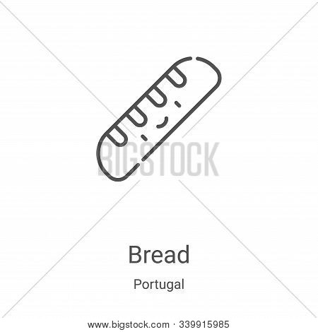 bread icon isolated on white background from portugal collection. bread icon trendy and modern bread