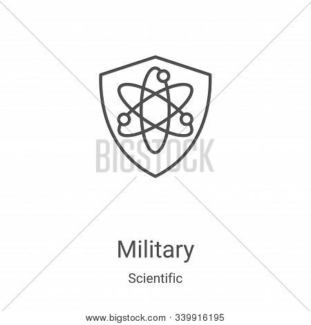 military icon isolated on white background from scientific collection. military icon trendy and mode