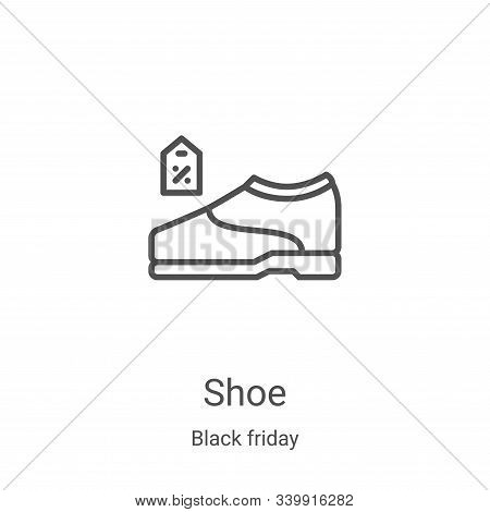 shoe icon isolated on white background from black friday collection. shoe icon trendy and modern sho