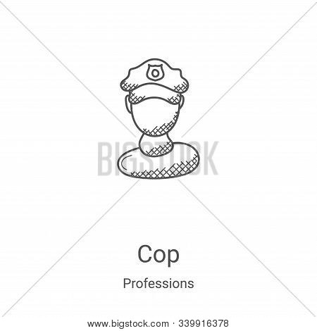 cop icon isolated on white background from professions collection. cop icon trendy and modern cop sy