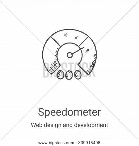 speedometer icon isolated on white background from web design and development collection. speedomete