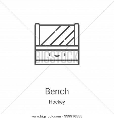 bench icon isolated on white background from hockey collection. bench icon trendy and modern bench s