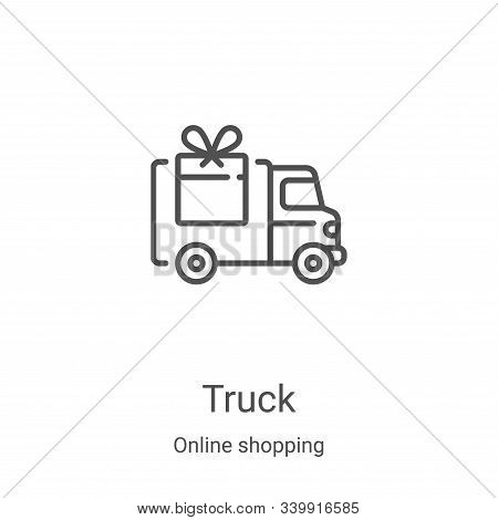 truck icon isolated on white background from online shopping collection. truck icon trendy and moder