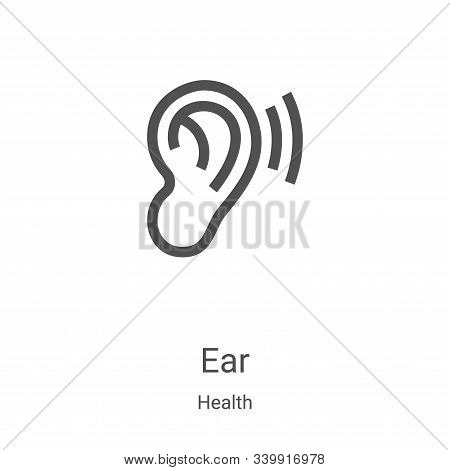 ear icon isolated on white background from health collection. ear icon trendy and modern ear symbol