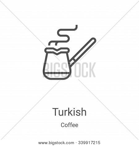 turkish icon isolated on white background from coffee collection. turkish icon trendy and modern tur