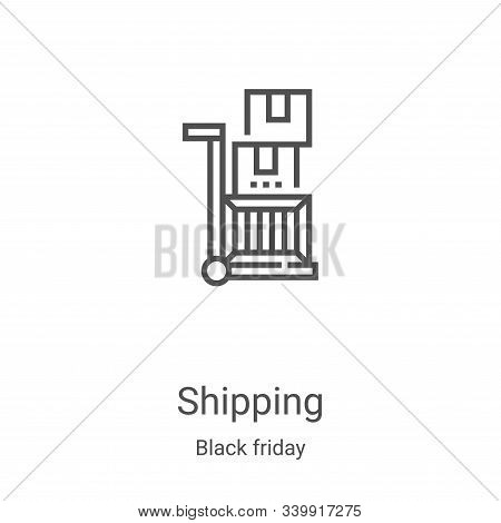 shipping icon isolated on white background from black friday collection. shipping icon trendy and mo