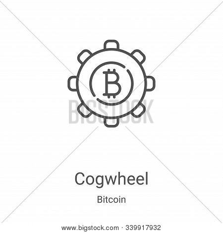 cogwheel icon isolated on white background from bitcoin collection. cogwheel icon trendy and modern