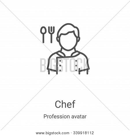 chef icon isolated on white background from profession avatar collection. chef icon trendy and moder