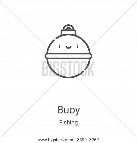 buoy icon isolated on white background from fishing collection. buoy icon trendy and modern buoy sym