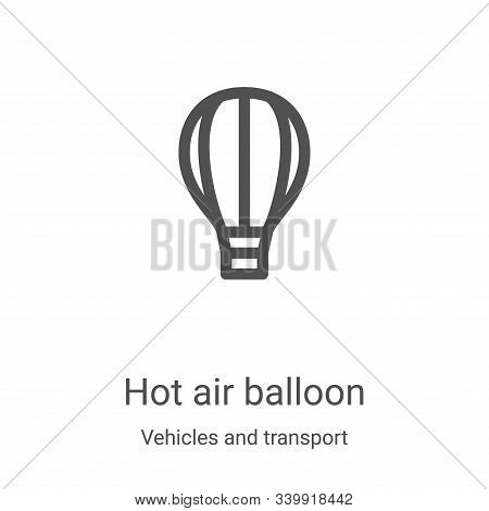 hot air balloon icon isolated on white background from vehicles and transport collection. hot air ba