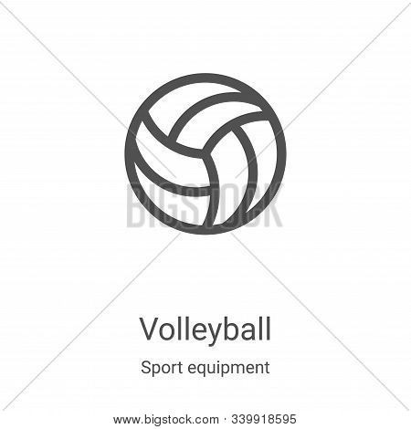 volleyball icon isolated on white background from sport equipment collection. volleyball icon trendy