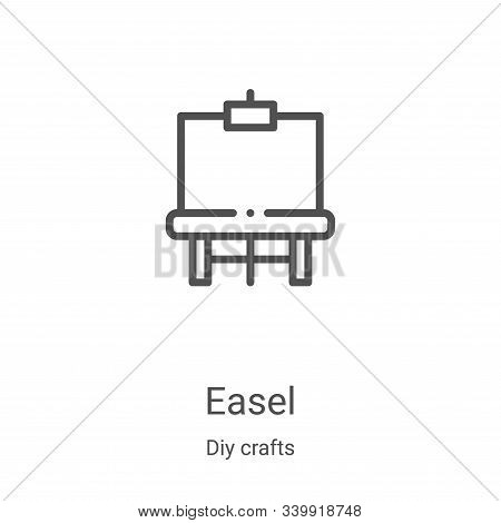 easel icon isolated on white background from diy crafts collection. easel icon trendy and modern eas