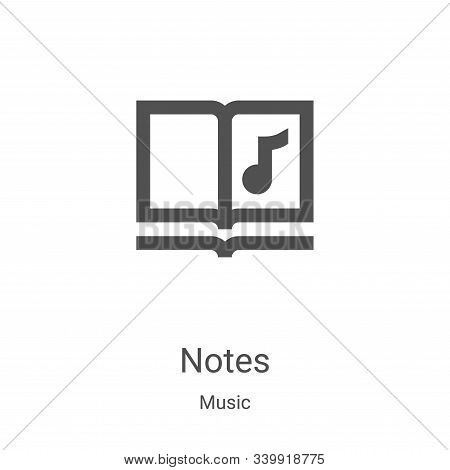 notes icon isolated on white background from music collection. notes icon trendy and modern notes sy