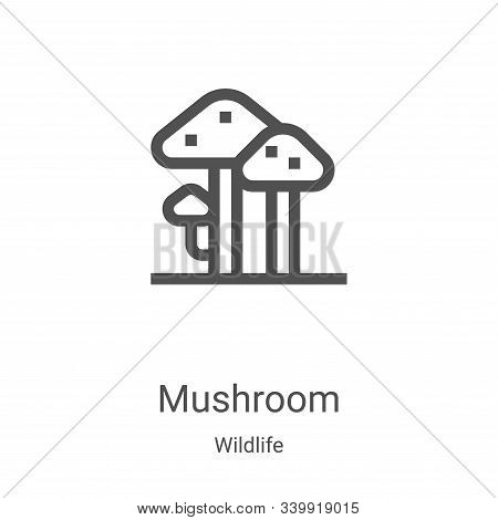 mushroom icon isolated on white background from wildlife collection. mushroom icon trendy and modern