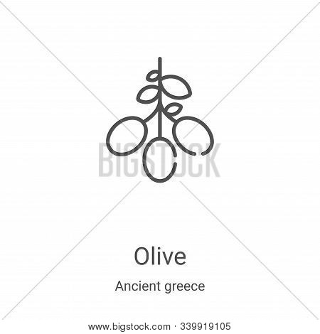 olive icon isolated on white background from ancient greece collection. olive icon trendy and modern