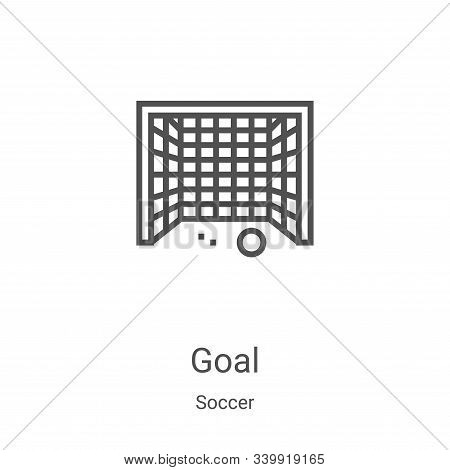goal icon isolated on white background from soccer collection. goal icon trendy and modern goal symb