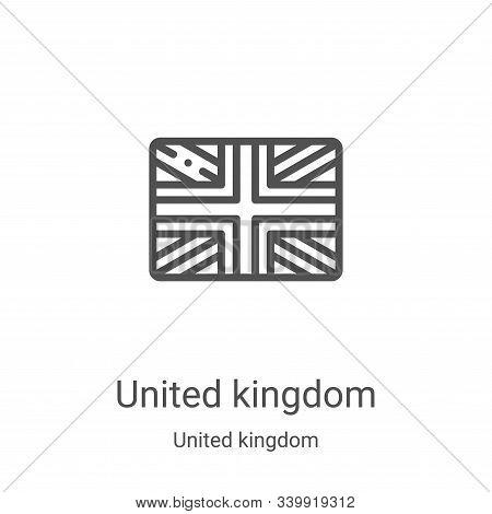 united kingdom icon isolated on white background from united kingdom collection. united kingdom icon