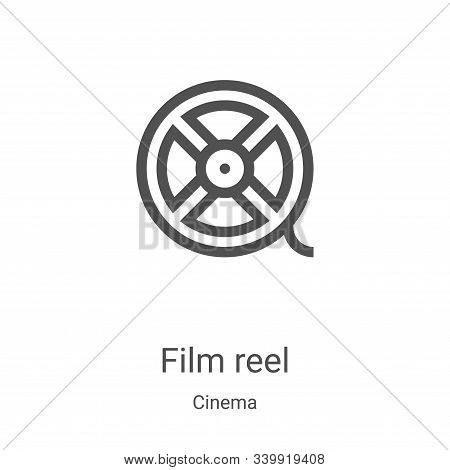 film reel icon isolated on white background from cinema collection. film reel icon trendy and modern
