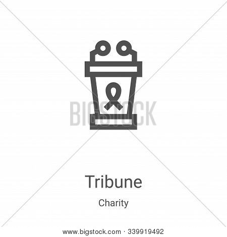 tribune icon isolated on white background from charity collection. tribune icon trendy and modern tr