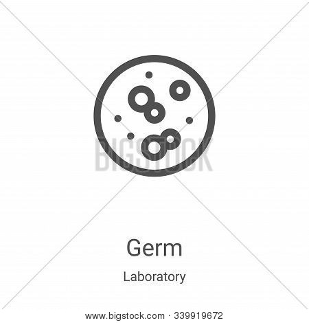 germ icon isolated on white background from laboratory collection. germ icon trendy and modern germ
