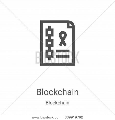 blockchain icon isolated on white background from blockchain collection. blockchain icon trendy and