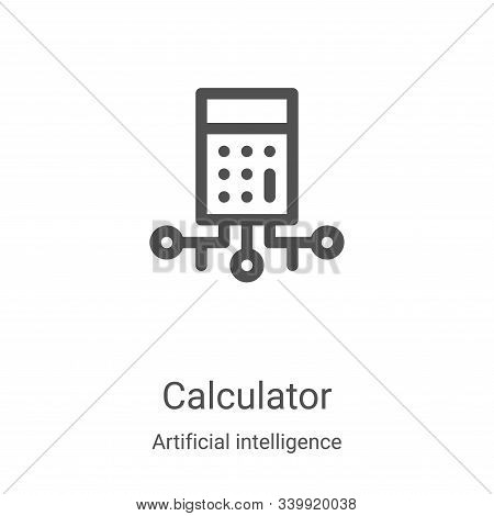 calculator icon isolated on white background from artificial intelligence collection. calculator ico