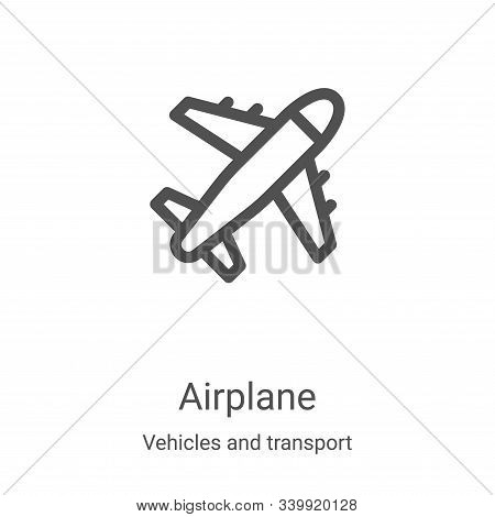 airplane icon isolated on white background from vehicles and transport collection. airplane icon tre