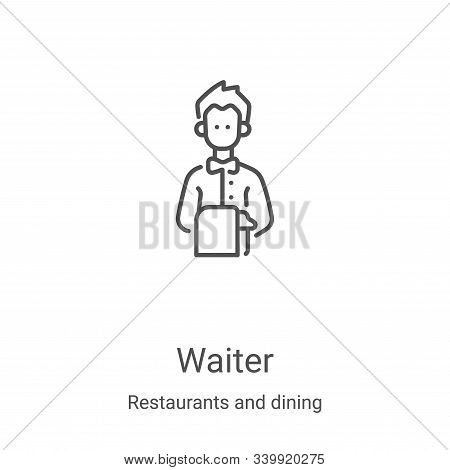 waiter icon isolated on white background from restaurants and dining collection. waiter icon trendy