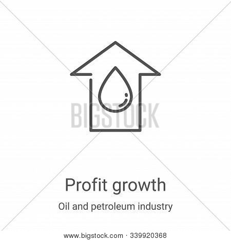 profit growth icon isolated on white background from oil and petroleum industry collection. profit g