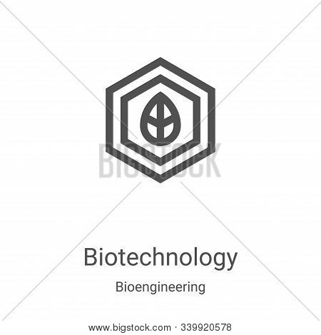 biotechnology icon isolated on white background from bioengineering collection. biotechnology icon t