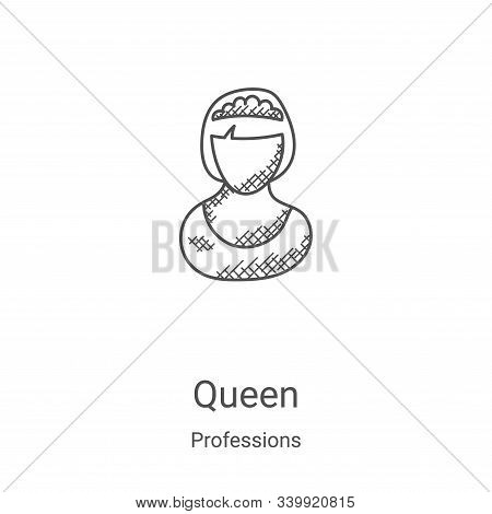 queen icon isolated on white background from professions collection. queen icon trendy and modern qu