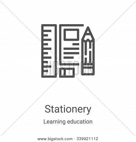 stationery icon isolated on white background from learning education collection. stationery icon tre