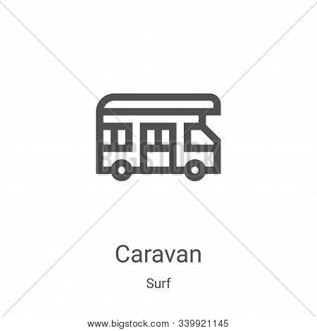 caravan icon isolated on white background from surf collection. caravan icon trendy and modern carav