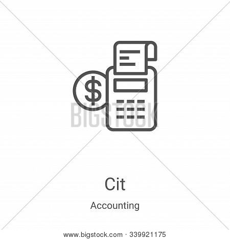 credit icon isolated on white background from accounting collection. credit icon trendy and modern c