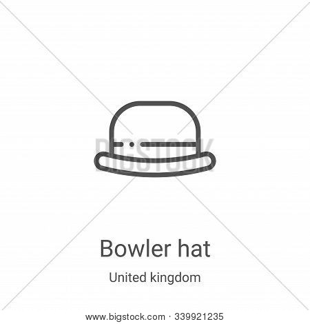 bowler hat icon isolated on white background from united kingdom collection. bowler hat icon trendy