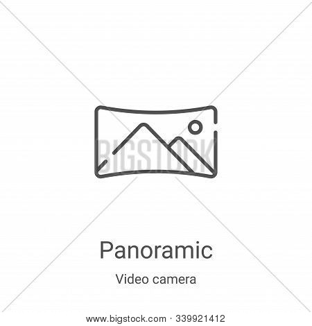 panoramic icon isolated on white background from video camera collection. panoramic icon trendy and