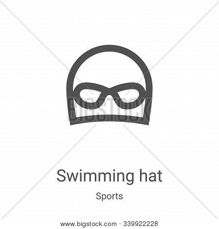swimming hat icon isolated on white background from sports collection. swimming hat icon trendy and