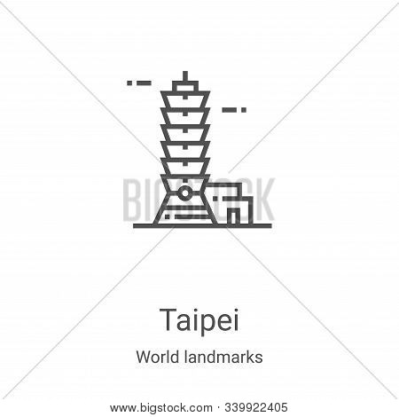 taipei icon isolated on white background from world landmarks collection. taipei icon trendy and mod